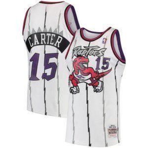 Nike Men Toronto Raptors Vince Carter White Jersey